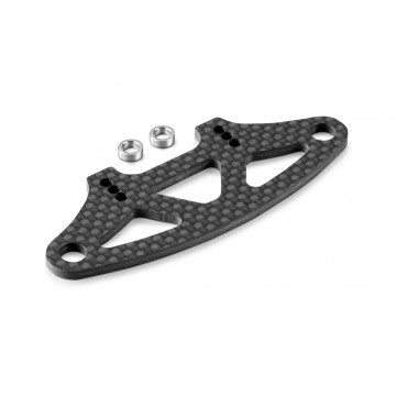 301210 XRAY GRAPHITE BUMPER UPPER HOLDER FOR ADJUSTABLE BODY MOUNTS 2.5MM
