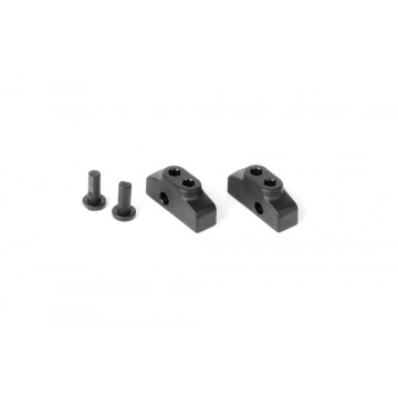 306192 Xray Composite Adjustable Battery Holder & Backstop (2+2)