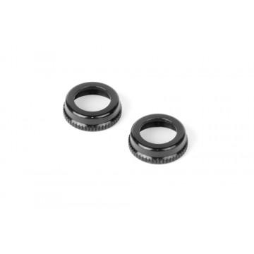 308354-K Xray ULP Alu Shock Cap Nut with Vent Hole - Black (2)