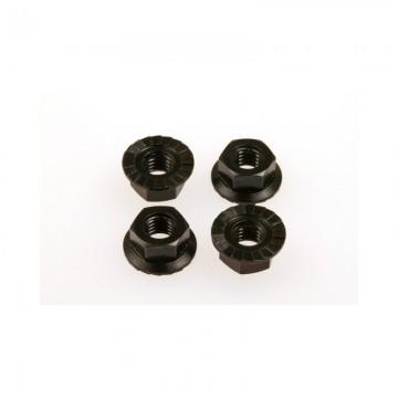 Hiro Seiko 4mm Alloy Serrated Wheel Nut  [Black]