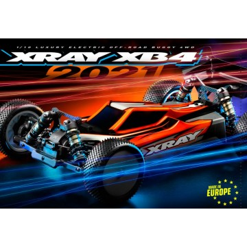 360008 XRAY XB4C'21 - 4WD 1/10 ELECTRIC OFF-ROAD CAR - CARPET EDITION